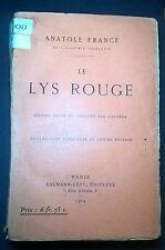 ANATOLE FRANCE LE LYS ROUGE 1924