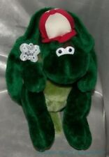 "NEW Vintage 1980s RUSS Plush 11"" Velvety Green SNAPPY The TURTLE w/Tag & Hat"