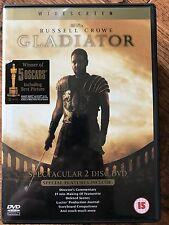 Russell Crowe Gladiator ~ 2000 Ridley Scott Roman Roman Epic 2-Disc Uk Dvd