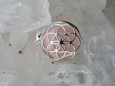 Seed of Life Pendant Rose Quartz set in Stirling silver
