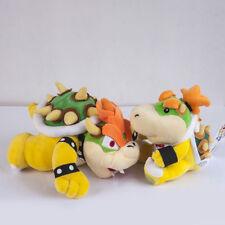 Set of 2 Super Mario Bros Jr Bowser and King Koopa Bowser Plush Soft Dolls Toys