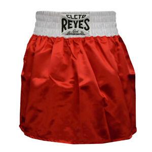 Cleto Reyes Women's Satin Boxing Skirt Trunks - Red/White