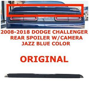 2008-2018 Dodge Challenger rear spoiler wing w/camera JAZZ BLUE 1ZB40KBXAF