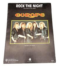 1986 Europe Rock The Night Music Sheet