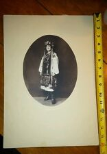 VICTORIAN CABINET PHOTO Eastern European ?  Woman WITH TRADITIONAL CLOTHING