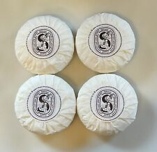 New Authentic Diptyque Paris Soap - 4 Round Bars - Made in Italy