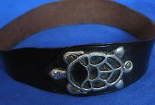 "Womens Vintage Handmade Turtle Belt and Buckle 27"" -28"""