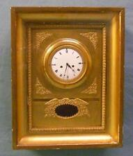 Antique Gold Gilt Wall Clock w/ Raised Spread Wing Eagle Relief