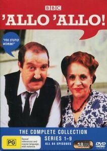 'Allo 'Allo The Complete Series 1 One to 9 NIne Box Set DVD NEW Region 4