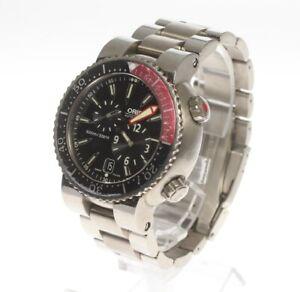 Junk ORIS Watch Regulator Divers Date 649-7541P Mens Titanium Dial Black from JP