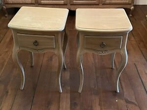 Pair Of Wooden John Lewis French Style Bedside Tables