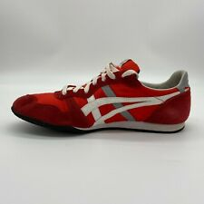 Onitsuka Tiger Mens F051114 KV Lace Up Athletic Red White Shoes Size US 10.5