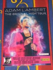 Adam Lambert - 2016  Australian Tour - Original High Tour Promo Poster.