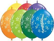 "20ct. CONGRATULATIONS ASST Quicklink 12"" Latex Helium Linking Balloons ARCHES"