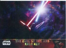 Star Wars Force Awakens Chrome Prism Refractor Base Card #92 The Duel of Rey and