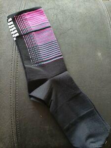 Socks Flight Print Purple Black 43 - 46 Brand New.  Rapha Quality - 1st Class
