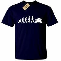 Hombre Evolución de Motero Camiseta Moto Rider Moto Motocicleta Camiseta