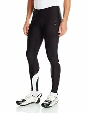 Canari Cyclewear Men's Spiral Gel Cycle Tights Pants XXL BLACK/WHITE REFLECTIVE