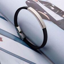 Street Personalized Fashion Wristband Bracelet Steel Silicone Titanium