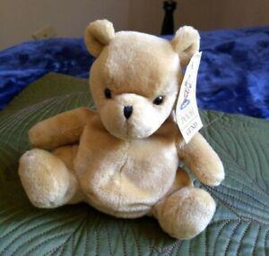 "Vintage GUND Classic Pooh Sitting Plush 6"" Plastic Pellets NWT"