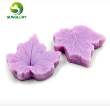 2pcs silicones Maple Leaf Mold for Cake Decoration soap Mold Decorating crème