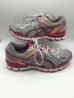 Asics Gel Indicate Women's Size 10.5 Gray Pink Gym Athletic Running Shoes T565N