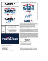2018 World Series PDF Tickets Games 3,4,5