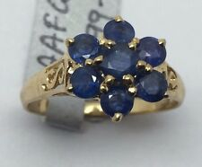 14k Yellow Gold Sapphire Flower Ring; 0.91 Ct.; Originally $799