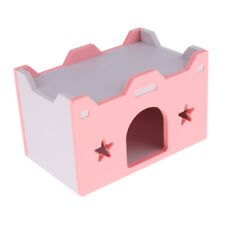 Hamster Chinchilla Ferret Pet Supplies Lovely Wooden Cottage House - Pink