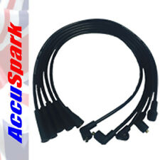 AccuSpark Silicona Cables HT Negros Para Ford Crossflow ESCORT, Capri, cortina,