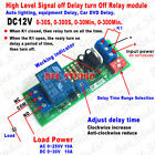 Mini DC 12V Signal Trigger Control Timer Relay Switch Time Delay Turn Off Module