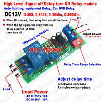 DC 12V Edge Signal Trigger Timer Control Relay Switch Delay Time Turn Off Module
