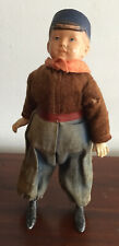 New ListingRare Antique Celluloid & Composition Clockwork Wind Up Boy Doll