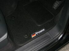 Black Car Floor Mats- Audi A4 B6 Convertible S-Line (02-06) + German Power Logos