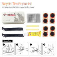 Portable Bike Bicycle Tire Tyre Repair Tool Sets Kit Rubber Patch Glue Lever Hot