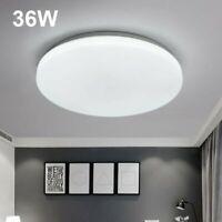 36W Round LED Ceiling Down Light Panel Flush Mount Kitchen Bedroom Fixture Lamp