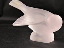 Lalique France - Crystal Sparrow with Head Under Wing Figurine