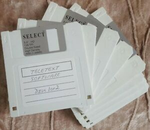 "FLOPPY DISKS ""SELECT"" BRAND x 5 Loose used"