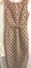 Stunning Jacquard Long Bronze color medallions on a sheath dress  Size 6-8