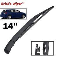 "Rear Windshield Wiper Blade Arm Set Kit Tailgate For Mazda 3 BL 2009 - 2013 14"""