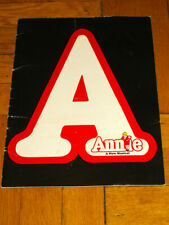 Vintage 1977 ANNIE the Broadway Musical Program ANDREA MCARDLE DOROTHY LOUDON