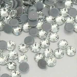 750pcs SS16 DMC A++ Crystal Clear Glass Flatback Hotfix Rhinestones Iron-on