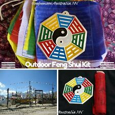 ツ Feng Shui Cures Tibetan Prayer Flag & BaGua Outdoor Pack