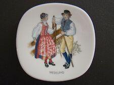 Rorstrand Swedish National Costumes Porcelain Butter Pat Medelpad Sweden