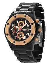 "Ingersoll Men's ""Harlem"" Black/Rose Goldtone Day/Date/Month Automatic Watch-New!"