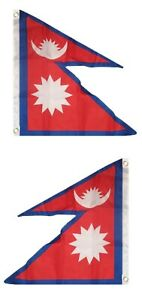 2x3 Nepal Flag 2'x3' House Banner Grommets Fade Resistant