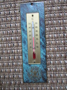 ALTE LEIPZIGER THERMOMETER MESSING