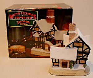 David Winter Cottage MR FEZZIWIG's EMPORIUM w/ Box. Paiinted byJohn Hine Studios