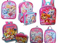 Paw Patrol Girls School Backpack Book bag Lunch Box Kids Gift Toy Skye Everest