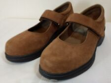 PROPET 6.5M Mary Jane Comfort Walking Shoes Nubuck Brown Suede Leather  W0029